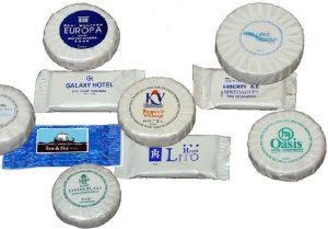 Σαπούνια με το λογότυπό σας 15-40γρ. σε περλέ χαρτί
